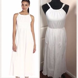 Anthropologie/Moon River/ White Halter Maxi Dress